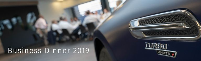 hmmh Business Dinner 2019 im Mercedes Benz Kundencenter