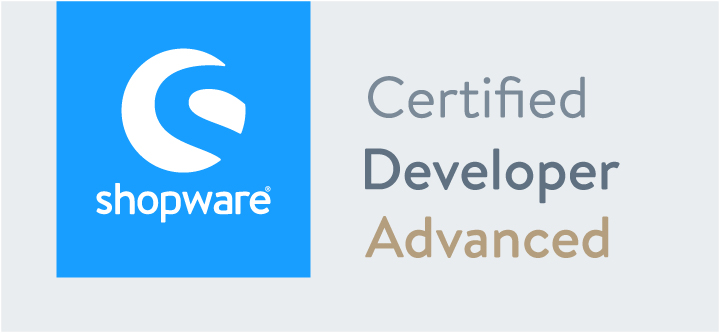 Zertifikat Shopware 5 | Certified Developer Advanced | hmmh
