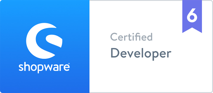 Zertifikat Shopware 6 | Certified Developer | hmmh
