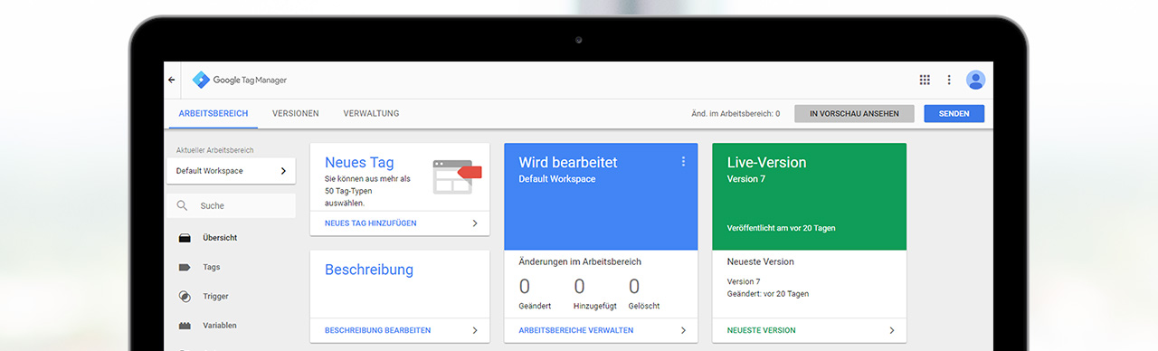 Tracking mit dem Google Tag Manager