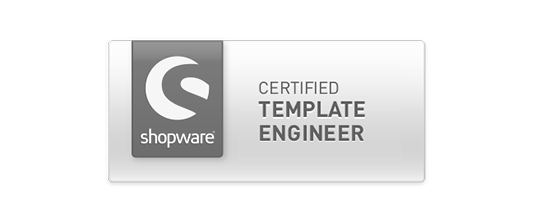 Zertifikat Shopware Certified Template Engineer